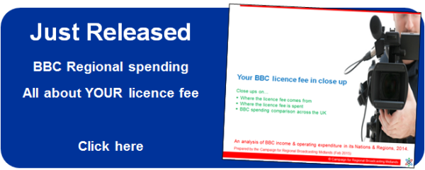 Where does the licence fee come from, where does it get spent? An analysis of BBC regional spending in 2014 (released Feb 2015).